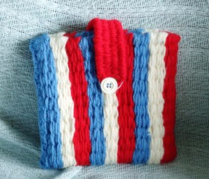 Jubilee handbag - Hand woven on a peg loom. The handle was made using weaving sticks. Lesley Bone