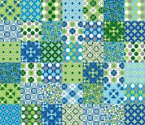 WWW patchwork fabric