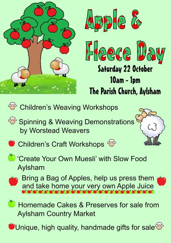 Apple and Fleece Day flier or poster Aug16